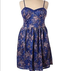 Xhilaration Velvet Paisley Burnout Dress